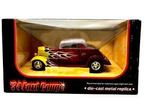 Ertl WIX Filters '34 Ford Coupe, Vintage, Die-Cast, Replica, Red With Flames