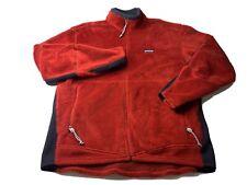 Vintage Patagonia R Regulator Polartec Red Fleece Jacket Deep Pile Full Zip USA
