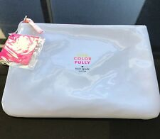 BRAND NEW KATE SPADE Live Color Fully GIA White Pouch Clutch Cosmetic Case Bag