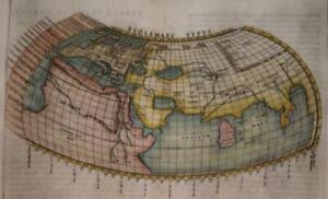 ANCIENT WORLD ACCORDING PTOLEMY THEORY 1562 PTOLEMY & MOLETO UNUSUAL ANTIQUE MAP