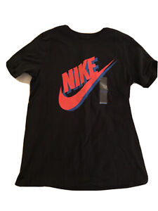 Nike Boys Size Large Graphic T-Shirt Black 100% Cotton Short Sleeve Nwt