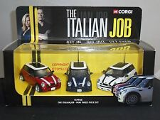 CORGI CC99138 ITALIAN JOB FILM MOVIE DIECAST MODEL MINI COOPER CAR SET
