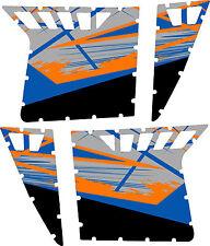 Pro Armor Door Graphics Kit Polaris RZR S 800 Blue Fire Orange 2008 - 2013 w/c