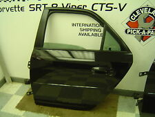 03-05 Cadillac CTS CTS-V Sedan OEM LH Drivers Rear Door Assembly Black SCRATCHED