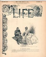 1893 Life March 16 - Wanamaker leaves Postal Dept; Eleonora Duse; States Streets
