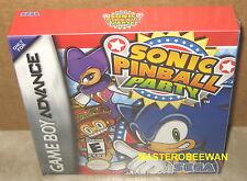 Sonic Pinball Party New Sealed H-Seam (Nintendo Game Boy Advance, 2003) GBA