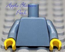 NEW Lego Girl/Boy Minifig Plain SAND BLUE TORSO Blank w/Yellow Minifigure Hands