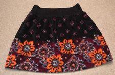Free People Floral velvet Black Skirt Size M