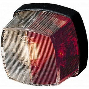 Hella 883 Side Marker Lamp Light Red/Clear