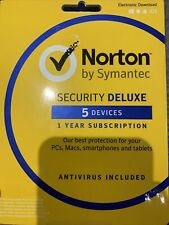 Norton Security Deluxe for 5 devices 1 year | Delivery Via Email