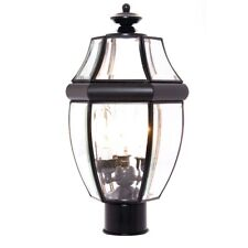 Maxim South Park 3-Light Outdoor Pole/Post Lantern Black - 6097CLBK