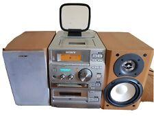 Sony CMT-CP500MD Micro Mini Component System CD Mini Disc Tape Tuner-No Remote