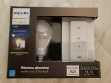 🌟🎈 Philips Hue White Wireless Dimming Kit A19 LED Bulb + Switch 🌟