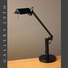 ARTICULATING TASK LAMP! Black Good Design Halogen 1980s Interior Decor Vtg