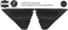 GREY STITCH 2X REAR DOOR CARD LEATHER COVERS FOR RENAULT 5 CAMPUS 3 DOOR