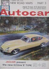 Autocar magazine 11/3/1966 featuring Mercedes 230 road test, Jaguar E-type 2+2