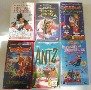 Disney / WB / Dreamworks Retro VHS Bundle 6 In Total. Antz, 101 Dalmations