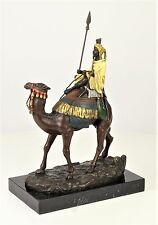 Figura de bronce en beduino kamel montacamellos Camel bronce personaje escultura