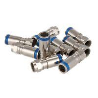 10Pcs F-Type Male Plug Compression Connectors For RG6 Coax Coaxial TV Cable J2N7