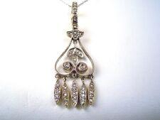 Vintage 14kt White Gold Diamond .35 ct Pendant Necklace - GAL Appraisal