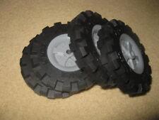 "4 K'Nex Knex Wheels 3.5"" (3)"