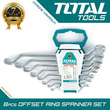 COMBINATION SPANNER WRENCH SET 8PC Hand Heavy Duty Offset Ring End - Total Tools