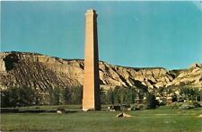Medora ND~Chimney Remaining from 1880 Beef Packing Plant~1960s Postcard