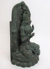 Antique Old Shakyamuni Buddha Bronze Figurine Dharmachakra mudra position