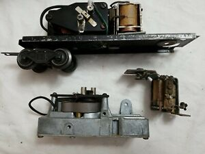 LIONEL POSTWAR 2466WX TENDER CHASSIS w/MOTOR, TRUCK & EXTRA WHISTLE MOTOR