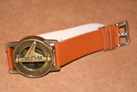 Collectible antique steampunk brass wrist compass & sundial-watch style good gft