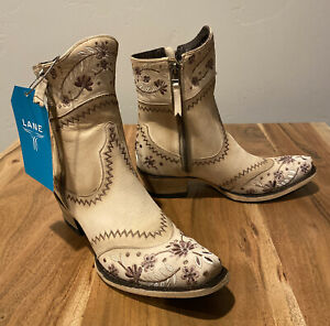 Eur 37.5 Uk 4.5 US 7 Cowboy Boots SENDRA Footwear Vintage Beige Leather Western Boots Harness Boots 90s Cowboy Boots Country