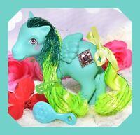 ❤️My Little Pony MLP G1 1987 Vtg Princess Ponies PRISTINA Tinsel Diamond JEWEL❤️