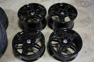 """19"""" / 20"""" Chevrolet C8 Corvette Factory OEM Gloss Black Wheels Rims 14007 14008"""