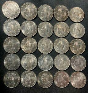 Old Mexico Coin Lot - 50 CENTAVOS - 25 AU/UNC Coins - 60s-70s - Lot #M4