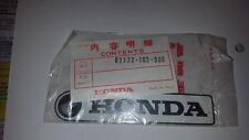 NOS Honda CT90 Trail 90 Frame Cover Left Side Emblem Badge 87122-102-000 69-72