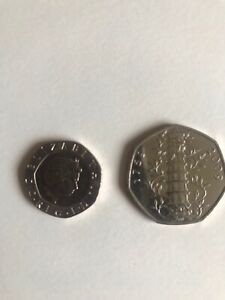 Kew Garden 50 Pence And An Undated 20 Pence Coin