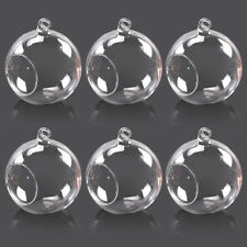 6pcs Hanging Clear Glass Globe Ball Candle Tea Light Holder Air Plant Terrarium