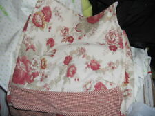 waverly 2 piece valances 66x18 floral & checked
