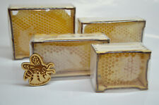 Natural Raw Honeycomb This Seasons In Wood Frame Gift