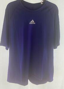 NWT New Mens Adidas 3 Stripe Logo Purple T Shirt XXXXL 4XL Crew Neck $25