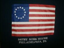 BETSY ROSS HOUSE T SHIRT Philadelphia Pennsylvania United States of America Flag