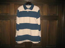 DUCK HEAD Men's Athletic Fit, Long Sleeve, Striped Polo......VINTAGE.....X LARGE