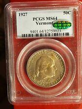 1927 VERMONT U.S. Commemorative Half $ - MS-64 (PCGS, green CAC) stk#9023