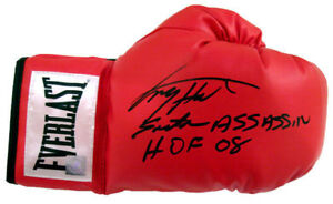 """Larry Holmes """"Easton Asassin"""" Autographed Signed Everlast Boxing Glove ASI Proof"""