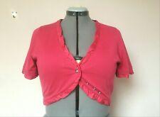 JIGSAW Large Size 14-16 Hot Pink Silk & Cotton Bolero Shrug Cardigan.VGC