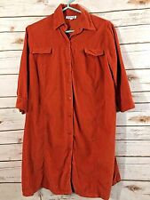 Premaman Maternity Light Corduroy Orange Dress Size Small Vintage (LL)