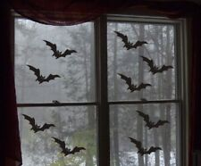 Halloween Bat Black Vinyl Stickers Window Decorations Spooky Party Kids Children