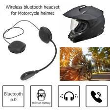 Motorcycle Helmet BT 5.0 Wireless Intercom Headset Earphone Speaker Hand 1s