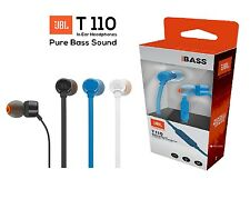 Imported JBL T110 In-Ear Wired Earphones stereo Headsets with Mic