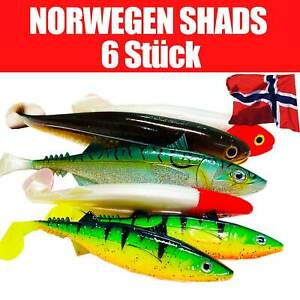 Jackson Profi Norwegen Meeresangeln Köder Gummifische 18-30cm Angelset. 6 St.